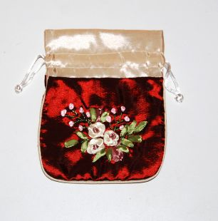 Applique Cosmetic Pouch 5.5〝x4.5