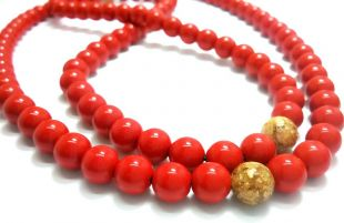 Cinnabar mala 8mm 108beads