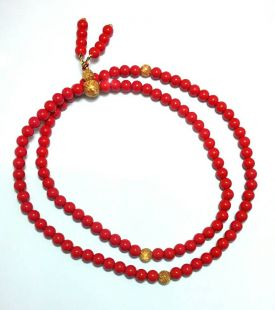 Cinnabar mala 6mm 108beads
