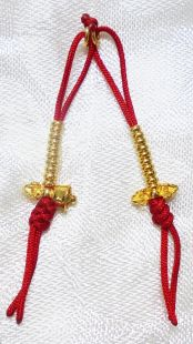 24K Sterling Gold vajra & bell counter (大)