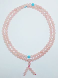 Rose Quartz Mala x 108 beads (8mm)