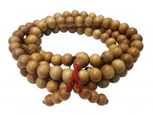 Indian Sandalwood mala 108 beads